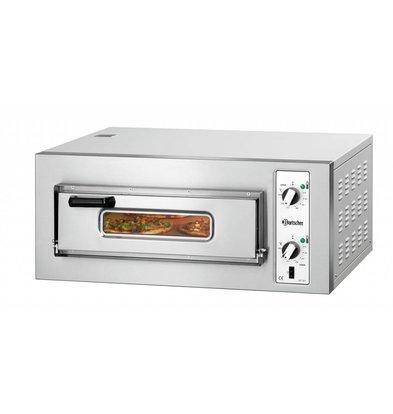 Bartscher Elektro-Pizzaofen | 4x Pizza Ø 250mm | 4kW-400V | 800x750x(h)360mm