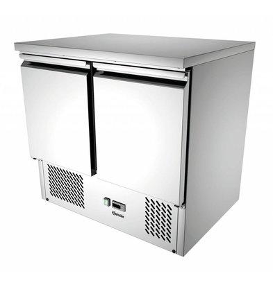 Bartscher Mini-Kühltisch   2 Türen   Umluftkühlung   260 Liter   900x700x(h)870mm