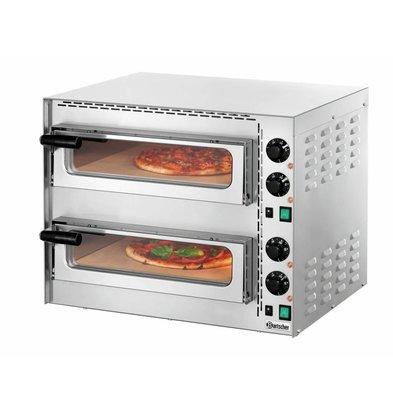 Bartscher Pizzabackofen Mini Plus | 2x Pizza Ø350mm | 570x550x(h)475mm