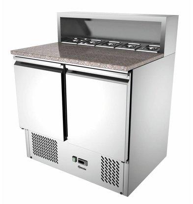 Bartscher Pizza-Saladette | Granit-Arbeitsplatte | 2 Türen | 260 Liter | 900x700x(h)1080mm