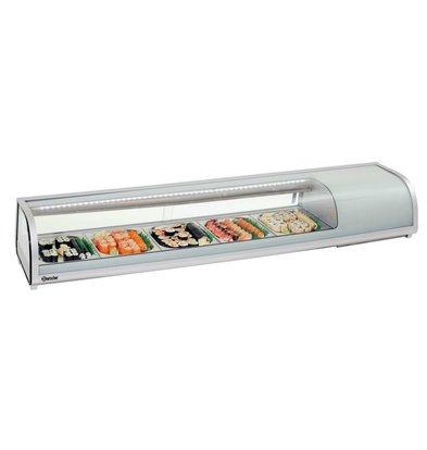Bartscher Kühlaufsatzvitrine Sushi Bar | 5x1/2GN | 1800x425x(h)295mm