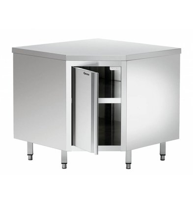 Bartscher Eckschrank | mit Tür | 900x900x(h)850-900mm