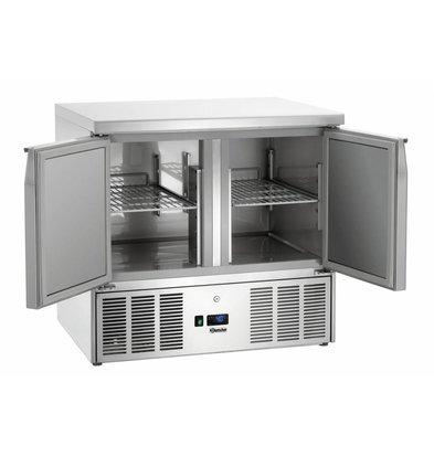 Bartscher Mini-Kühltisch   2 Türen   Statischkühlung   159 Liter   900x700x(h)870mm