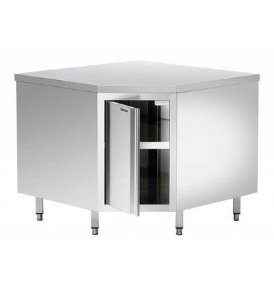 Bartscher Eckschrank | mit Tür | 1000x900x(h)850-900mm