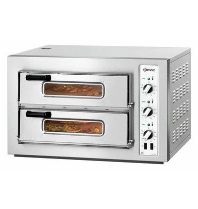 Bartscher Elektro-Pizzaofen | 2x4 Pizza Ø 200mm | 6kW-400V | 800x750x(h)510mm