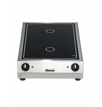 Bartscher Ceran-Elektro-Kocher   2 Felder   3 kW   400x655x(h)120mm