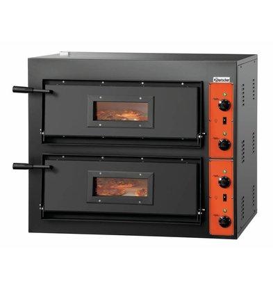 Bartscher Elektro-Pizzaofen | 2x4 Pizza Ø 300mm | 8,4kW-380V | 890x880x(h)750mm
