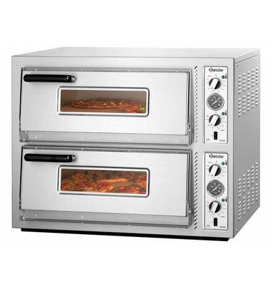 Bartscher Elektro-Pizzaofen | 2x4 Pizza Ø 300mm | 10kW-400V | 885x790x(h)710mm