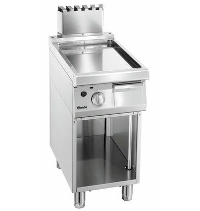 Bartscher Gas-Grillplatte 700 Serie | Unterbau offen | glatt | 400x700x(h)850-900mm
