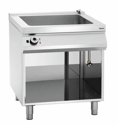 Bartscher Elektro-Wasserbad 900 Serie | 2x1/1GN + 2x1/3GN | Unterbau offen | 800x900x(h)900-950mm