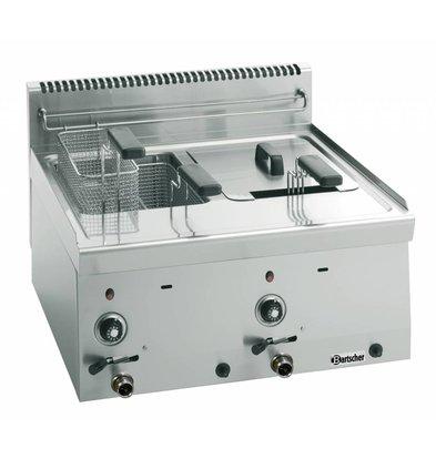 Bartscher Gas-Friteuse 600 Serie | 2x8 Liter | 13,4kW | 600x600x(h)290mm