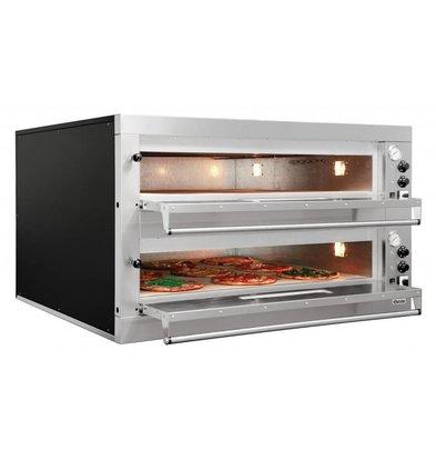 Bartscher Elektro-Pizzaofen | 2x9 Pizza Ø 330mm | 24kW-400V | 1310x1270x(h)760mm