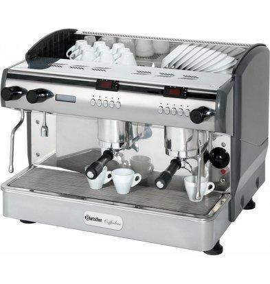 Bartscher Kaffeemaschine Coffeeline G2plus | 2x Dampfhahn | 3 Kessel | 677x580x(h)523mm