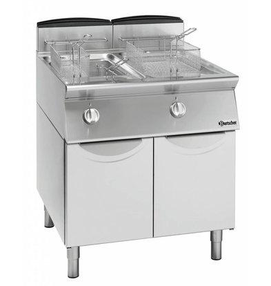 Bartscher Gas-Standfriteuse 700 Serie | 2x13 Liter | 18,8kW | 600x700x(h)850mm