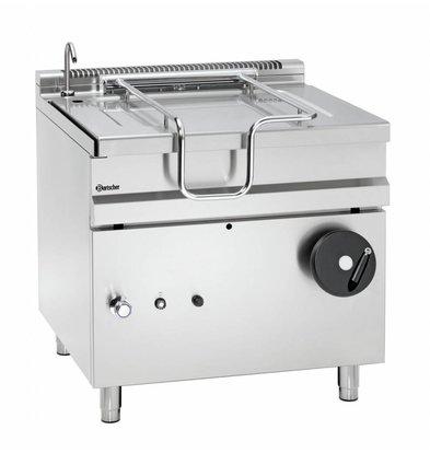 Bartscher Gas-Kippbratpfanne | Handradkippvorrichtung | 900x900x(h)900mm
