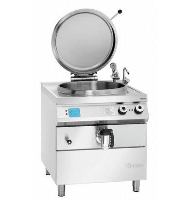 Bartscher Elektro-Kochkessel 900 Serie | Füllstandskontrolle | 100 Liter | 800x900x(h)900-950mm