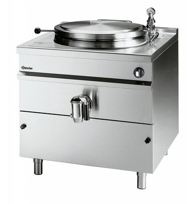 Bartscher Elektro-Kochkessel | Edelstahl | 113 Liter | 16kW/400V | 800x900x(h)900mm