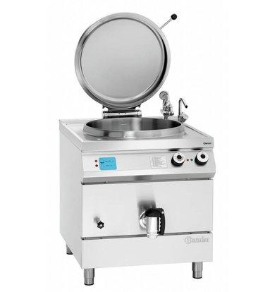 Bartscher Elektro-Kochkessel 900 Serie | Füllstandskontrolle | 135 Liter | 800x900x(h)900-950mm