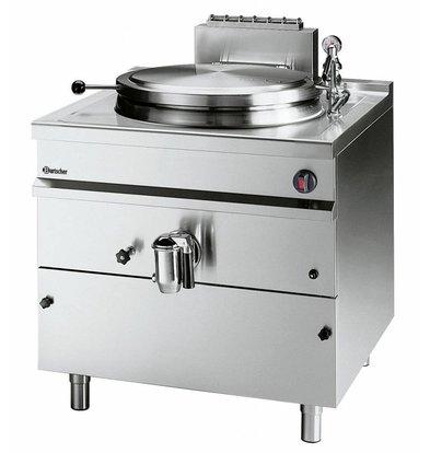 Bartscher Gas-Kochkessel Edelstahl | 150 Liter | 800x900x(h)900mm