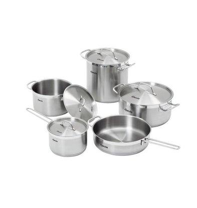 Bartscher Kochtopf-Set  | 9-teilig | 4 Töpfe mit Deckel und 1 Pfanne