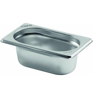 Saro Gastronormbehälter Edelstahl 1/9 GN | Tiefe 65mm