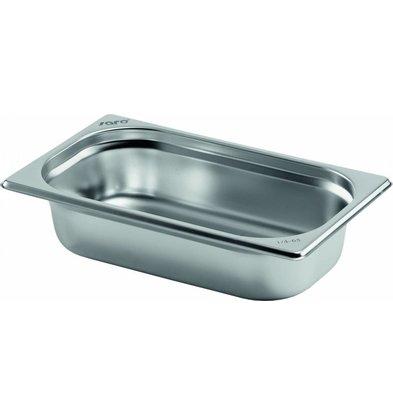 Saro Gastronormbehälter Edelstahl 1/4GN | Tiefe 65mm