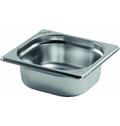 Saro Gastronormbehälter Edelstahl 1/6GN | Tiefe 100mm