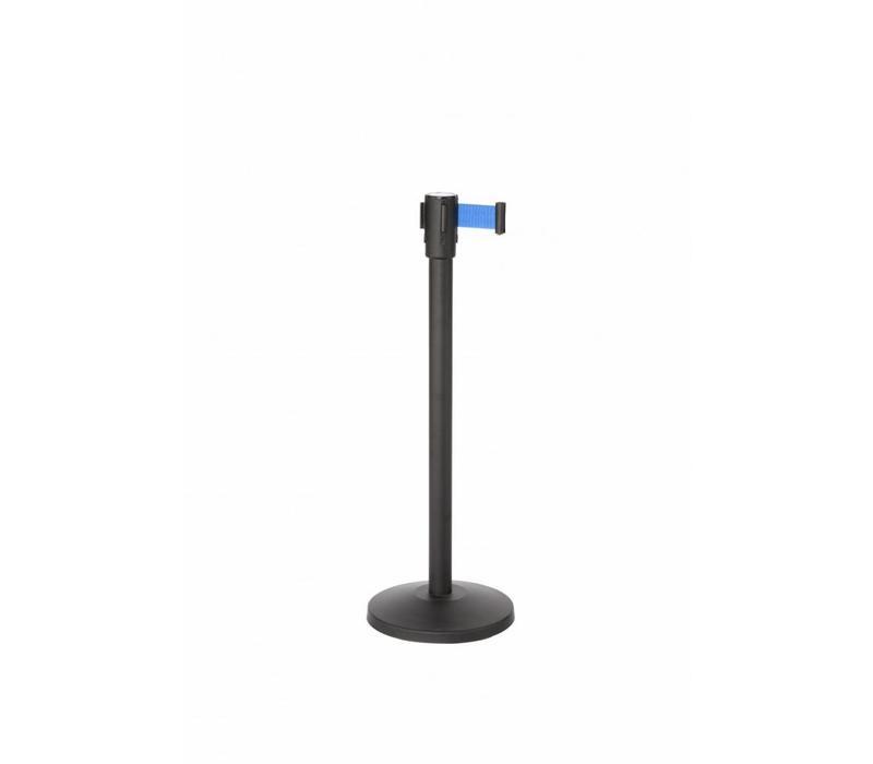 Saro Absperrpfoste Schwarz 9 kg | Gurt 180cm Blau