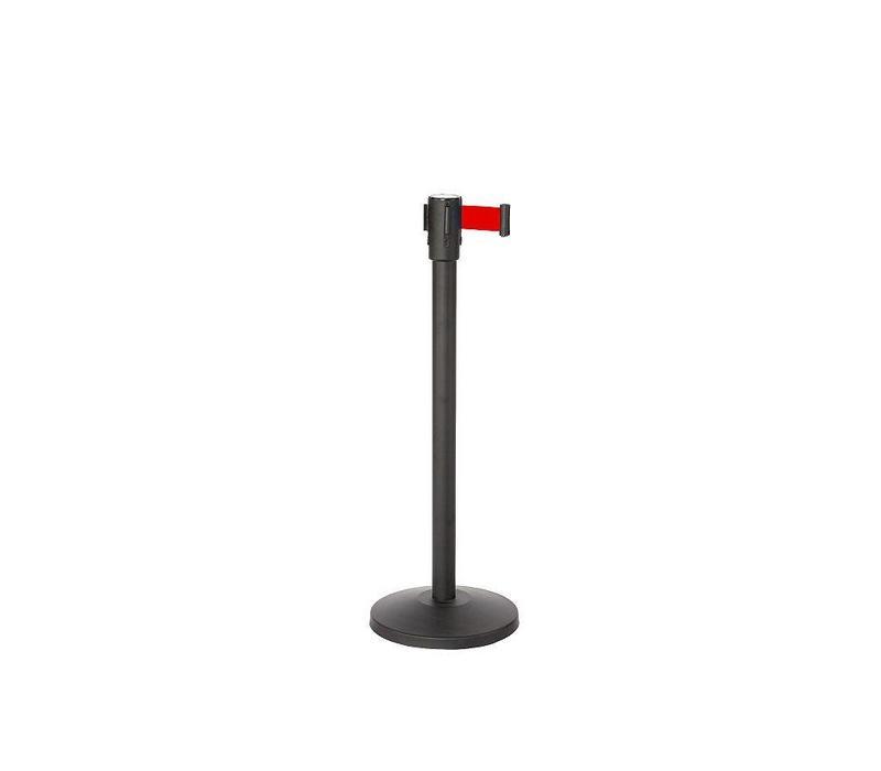 Saro Absperrpfosten Schwarz 9 Kg | Gurt 180cm Rot