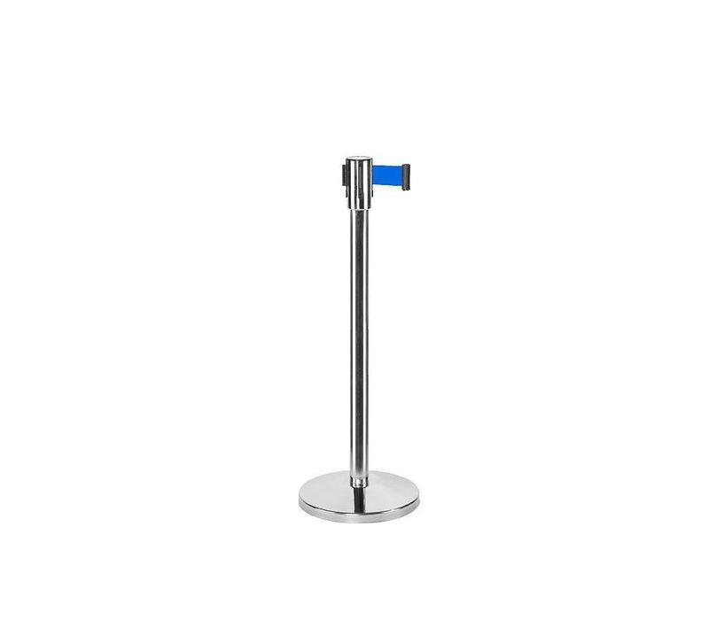 Saro Absperrpfoste Chrom 9 Kg | Gurt 180cm Blau
