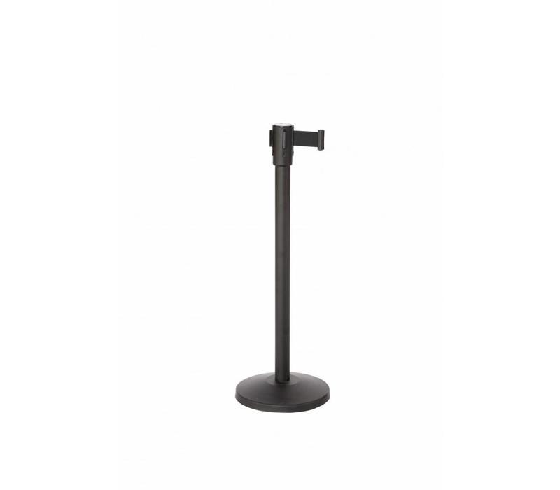 Saro Absperrpfoste Schwarz 9 Kg | Gurt 180cm Schwarz