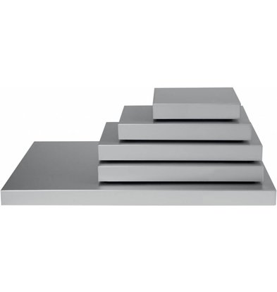 Saro Kühl-Servierplatte Stay Cool 1/1 GN | Aluminium | 530x325x(h)36mm