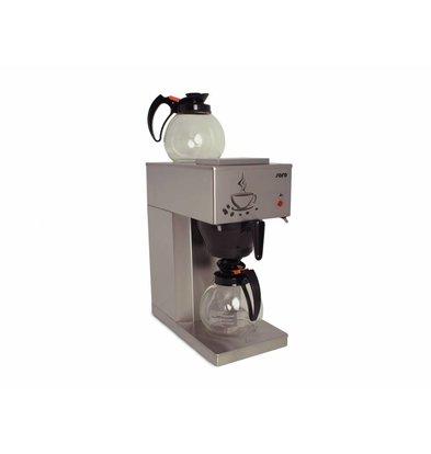 Saro Kaffeemaschine Economic | 2x 1,8 Liter | 24 Tassen | 205x385x(H)435mm