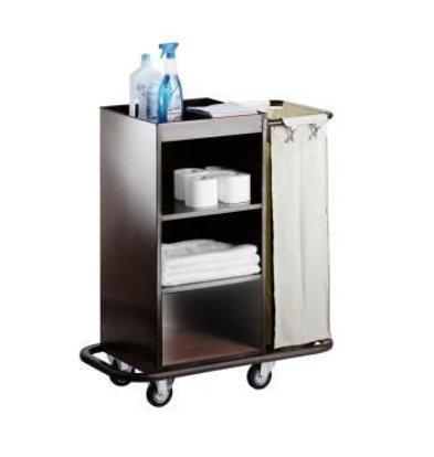 Saro Zimmerservicewagen XL | Wäschesäcke abnehmbar | 830x450x(h)1120 mm