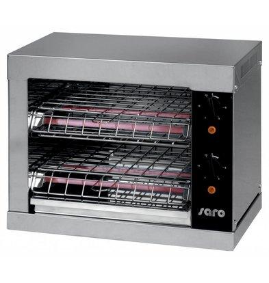 Saro Toaster | 2 Kammer | Zeitschaltuhr | 440x260x(h)380mm