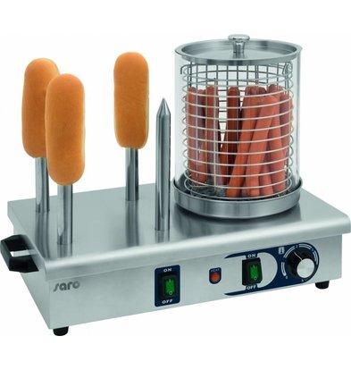 Saro Hot Dog Gerät mit Brotwärmer | 330x290x(h)410 mm