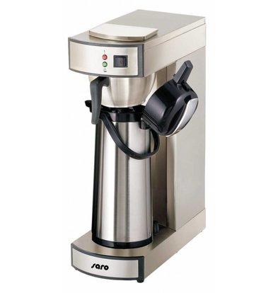 Saro Kaffemaschine Edelstahl | 2,2 Liter | Inkl. Thermoskanne| 195x360x(h)550mm