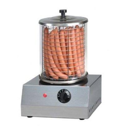 Saro Hot Dog Gerät | Edelstahl | Ø 200 mm | 400x400x(h)400mm
