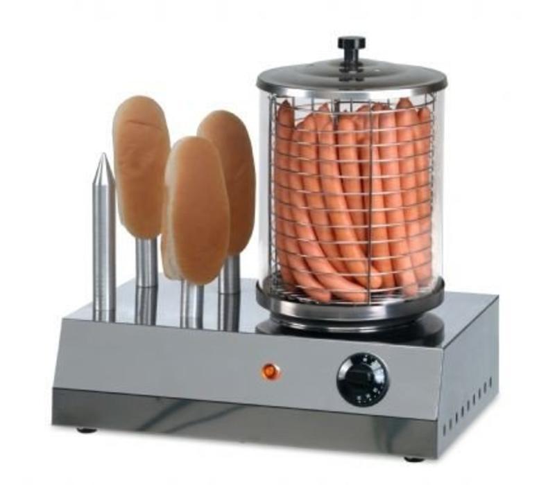 Saro Hot Dog Gerät mit Brotwärmer | 400x260x(h)420 mm