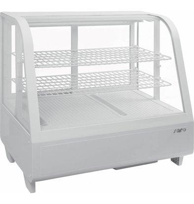 Saro Tisch-Kühlvitrine | 100 Liter | Weiß | 680x450x(h)670mm