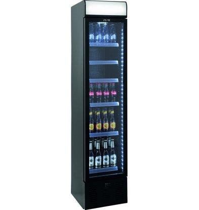 Saro Display Kühlschrank schwarz | 134 Liter | LED | 403x455x(h)1905mm