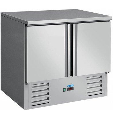 Saro Kühltisch Edelstahl   2 Türen   900x700x(h)850/880mm