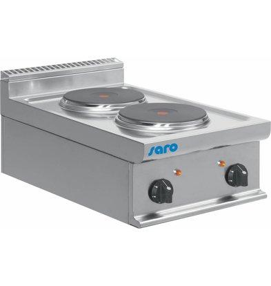 Saro Elektroherd | 2 Kochplatten | Tischmodell | 2x2,6KW | 400x700x(h)275mm