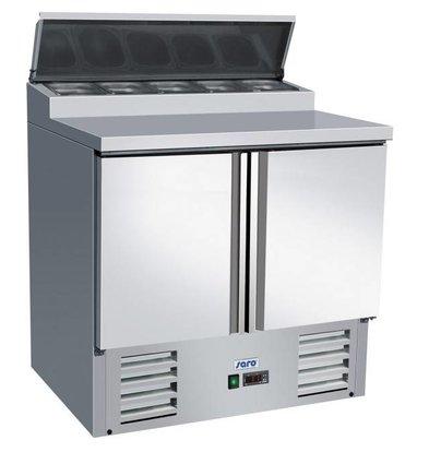 Saro Zubereitungstisch   5x1/3 GN   2 Türen   900x700x1010mm