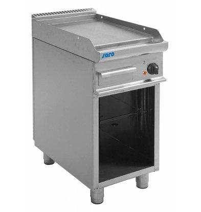 Saro Elektro-Grillplatte glatt | Casta Unterbau | 400x700x(h)850mm | 400V-5,4kW