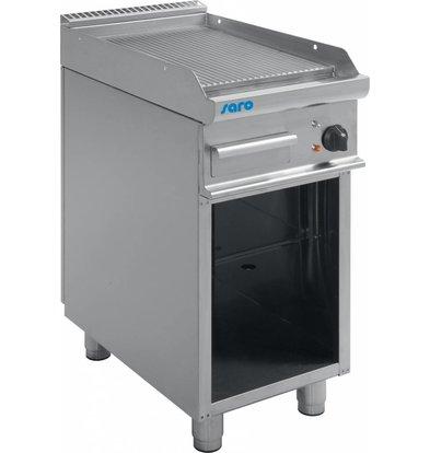 Saro Elektro-Grillplatte gerillt | Casta Unterbau | 400x700x(h)850mm | 400V-5,4kW