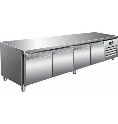 Saro Edelstahl Kühltisch | 420 Liter | 2230x700x650(h)mm