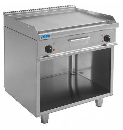 Saro Elektro-Grillplatte glatt | Casta Unterbau | 800x700x(h)850mm | 400V-10,4kW
