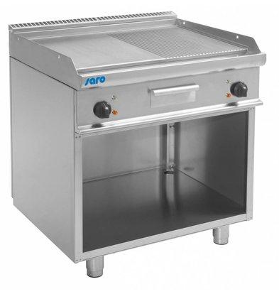 Saro Elektro-Grillplatte glatt/gerillt | Casta Unterbau | 800x700x(h)850mm | 400V-10,4kW