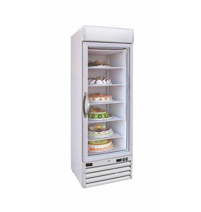Combisteel Tiefkühlschrank 1 Glastür | 412 Liter | 680x720x(h)1990mm | LED | Weiß